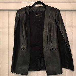 BCBG Maxazria Faux Leather Cape Jacket
